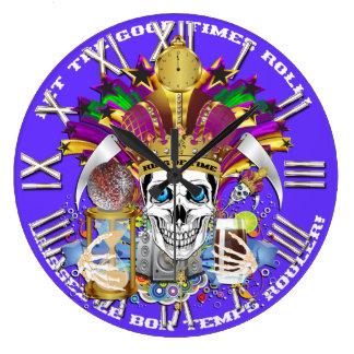 Mardi Gras King of Time  View Hints Please Wallclock
