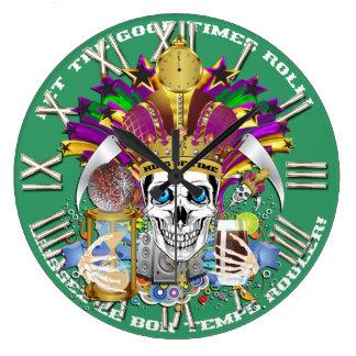 Mardi Gras King of Time  View Hints Please Wallclocks