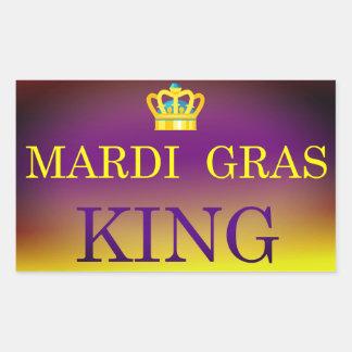 Mardi Gras King Rectangular Sticker