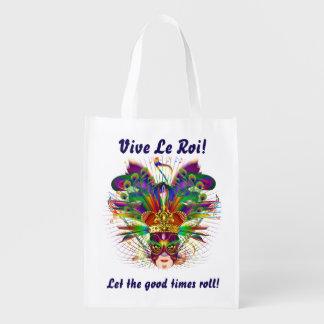 Mardi Gras King View About Design Below Reusable Grocery Bag