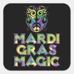 Mardi Gras Magic Mask Square Sticker