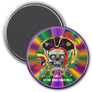 Mardi Gras Fridge Magnet