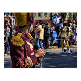Mardi Gras Marching Band Postcard