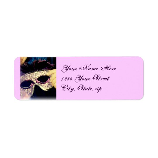 Mardi Gras Mask address labels