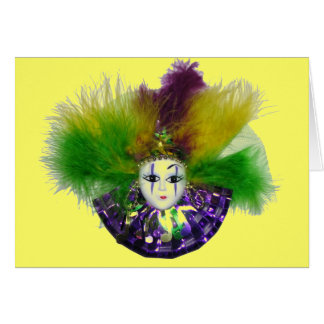 Mardi Gras Mask Card