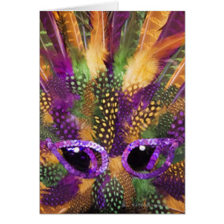 Mardi Gras mask, close-up, full frame Card