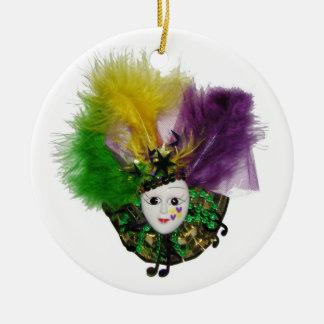 Mardi Gras Mask Gold Christmas Ornament