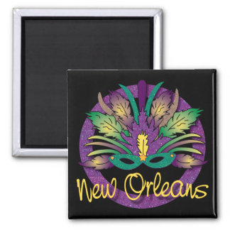Mardi Gras Mask Magnet - New Orleans, LA