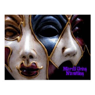 Mardi Gras Mask N'awlins Postcards