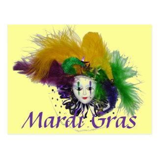 Mardi Gras Mask Postcard