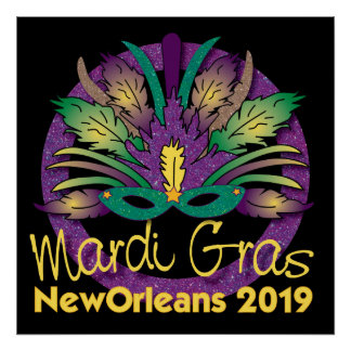 Mardi Gras Mask Poster - 2019 - New Orleans