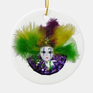 Mardi Gras Mask Purple Christmas Ornament