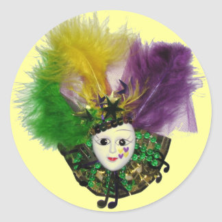 Mardi Gras Mask Sticker