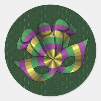 Mardi Gras Mask Sticker