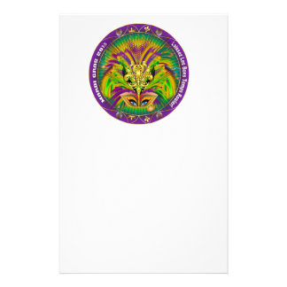 Mardi-Gras-Mask-The-Queen-1-B Stationery Paper