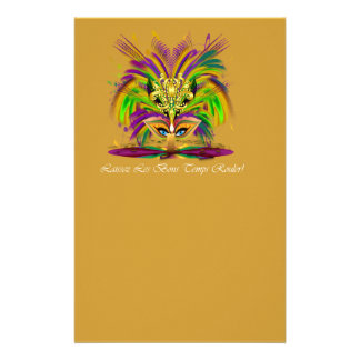 Mardi-Gras-Mask-The-Queen-V-4 Customized Stationery