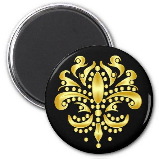 Mardi-Gras-Mask-The-Queen-V-4 Fridge Magnets