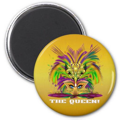 Mardi-Gras-Mask-The-Queen-V-4 Refrigerator Magnets
