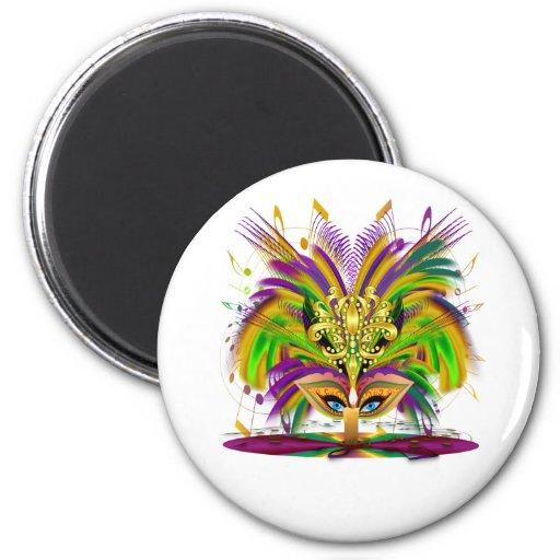 Mardi-Gras-Mask-The-Queen-V-4 Fridge Magnet