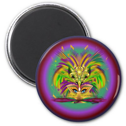 Mardi-Gras-Mask-The-Queen-V-4 Magnets