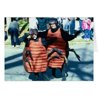 Mardi Gras Masking Roaches Card
