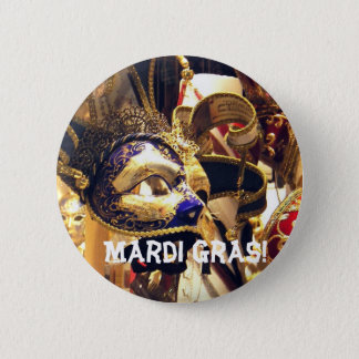 Mardi Gras Masks Button