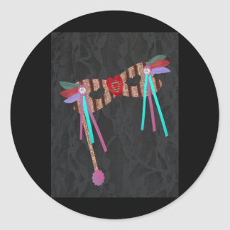 Mardi Gras Masque Classic Round Sticker