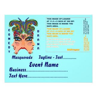 Mardi Gras Masquerade Comedy Drama View Hints Plse 21.5 Cm X 28 Cm Flyer