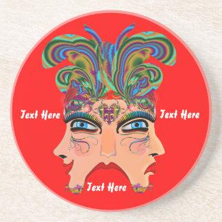 Mardi Gras Masquerade Comedy Drama View Hints Plse Beverage Coaster