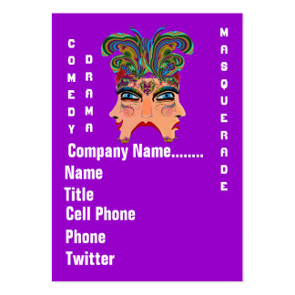 Mardi Gras Masquerade Comedy Drama View Hints Plse Large Business Cards (Pack Of 100)
