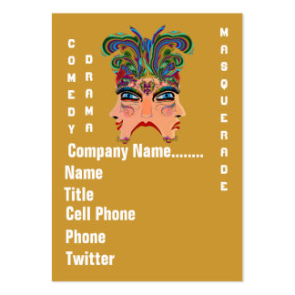 Mardi Gras Masquerade Comedy Drama View Hints Plse Pack Of Chubby Business Cards