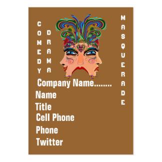 Mardi Gras Masquerade Comedy Drama View Hints Plse Business Card Templates