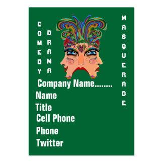 Mardi Gras Masquerade Comedy Drama View Hints Plse Business Card Template