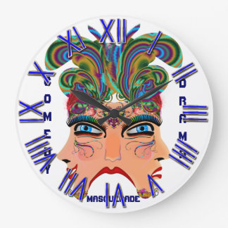 Mardi Gras Masquerade Comedy Drama View Hints Plse Wall Clocks