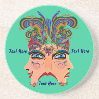 Mardi Gras Masquerade Comedy Drama View Hints Plse Drink Coaster