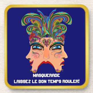 Mardi Gras Masquerade Comedy Drama View Hints Plse Drink Coasters