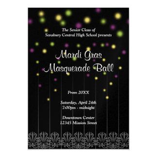 Mardi Gras masquerade confetti prom dance ball 13 Cm X 18 Cm Invitation Card