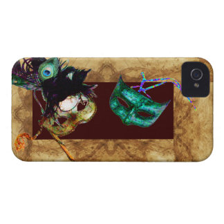 MARDI GRAS MASQUERADE parchment Case-Mate iPhone 4 Cases