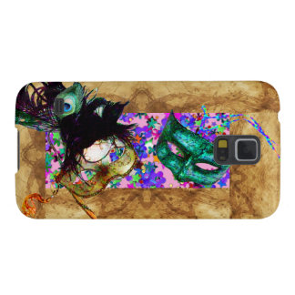 MARDI GRAS MASQUERADE parchment confetti Galaxy S5 Covers