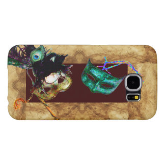 MARDI GRAS MASQUERADE parchment Samsung Galaxy S6 Cases