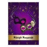 Mardi Gras Masquerade Prom Personalized Invitations