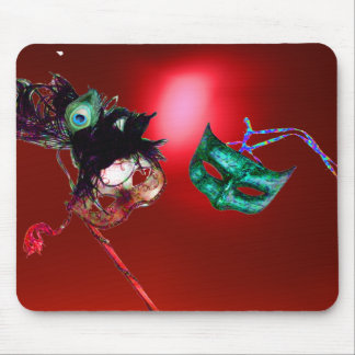 MARDI GRAS MASQUERADE red Mouse Pads