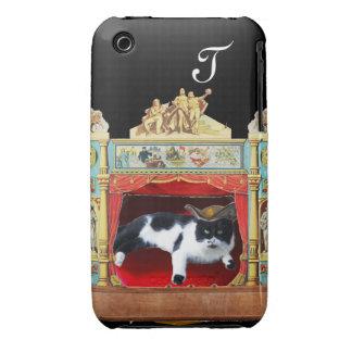 MARDI GRAS MASQUERADE THEATRE CAT Monogram iPhone 3 Case