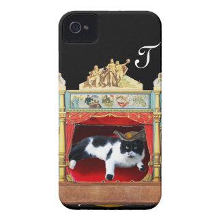 MARDI GRAS MASQUERADE THEATRE CAT Monogram iPhone 4 Cover