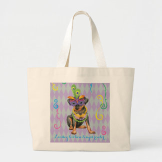 Mardi Gras Min Pin Large Tote Bag