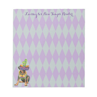 Mardi Gras Min Pin Notepad