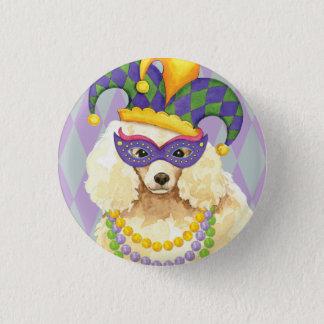 Mardi Gras Miniature Poodle 3 Cm Round Badge