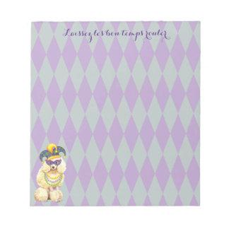 Mardi Gras Miniature Poodle Notepads