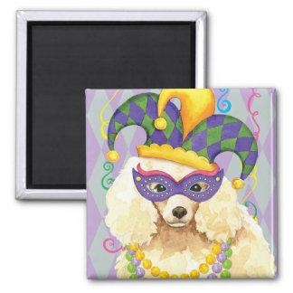 Mardi Gras Miniature Poodle Square Magnet