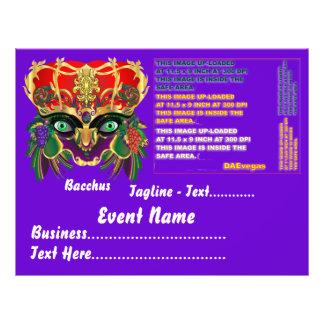 Mardi Gras Mythology Bacchus View Hints Please 21.5 Cm X 28 Cm Flyer